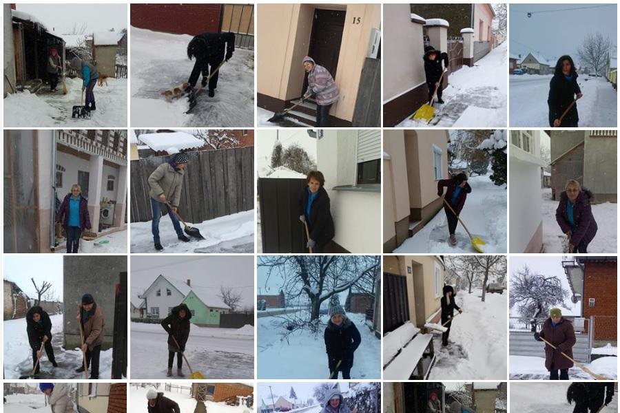 [Zaželi] Radna akcija čišćenja snijega