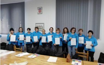 [Zaželi] Zaposlenicama uručena uvjerenja za gerontodomaćice