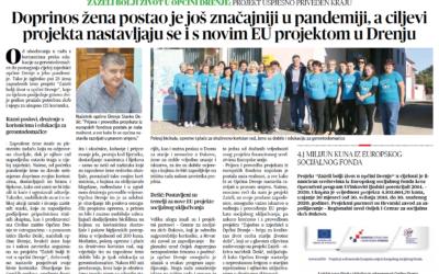 Projekt Zaželi bolji život u općini Drenje uspješno priveden kraju