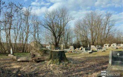 Uklanjanje opasnih stabala na grobljima u općini